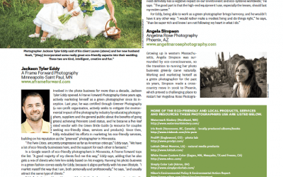 PDN Magazine Feature | Eco-Friendly Wedding Photographers