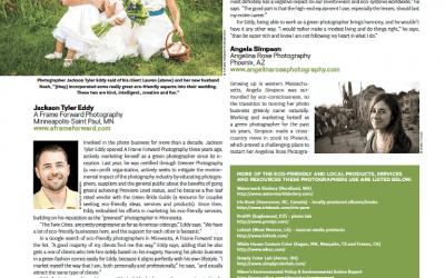 PDN Magazine Feature | Eco-Friendly Wedding Photographers