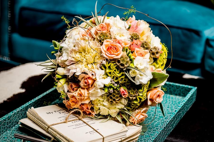 Brides flower bouquet for her Minneapolis wedding at Aria
