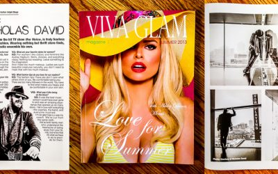 Viva Glam Magazine Feature | Nicholas David