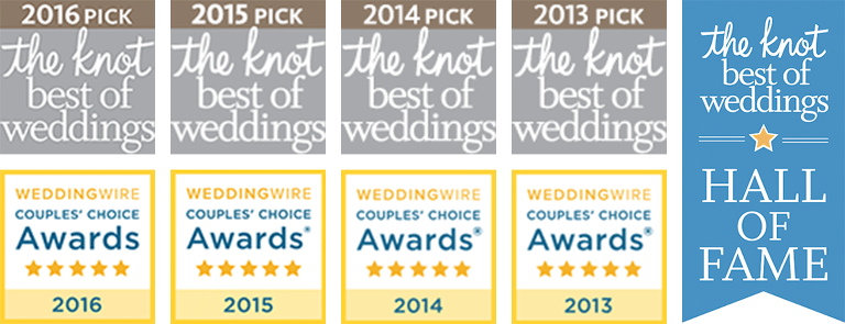 The Knot Best of Wedding Award Winner graphics