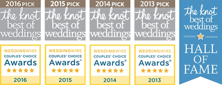The Knot - Best of Weddings Hall of Fame Award Winner Graphic