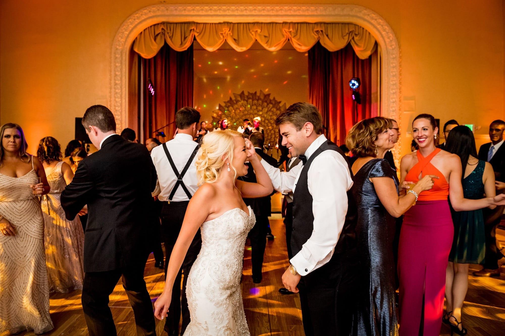 bride and groom dancing mark hotel reception