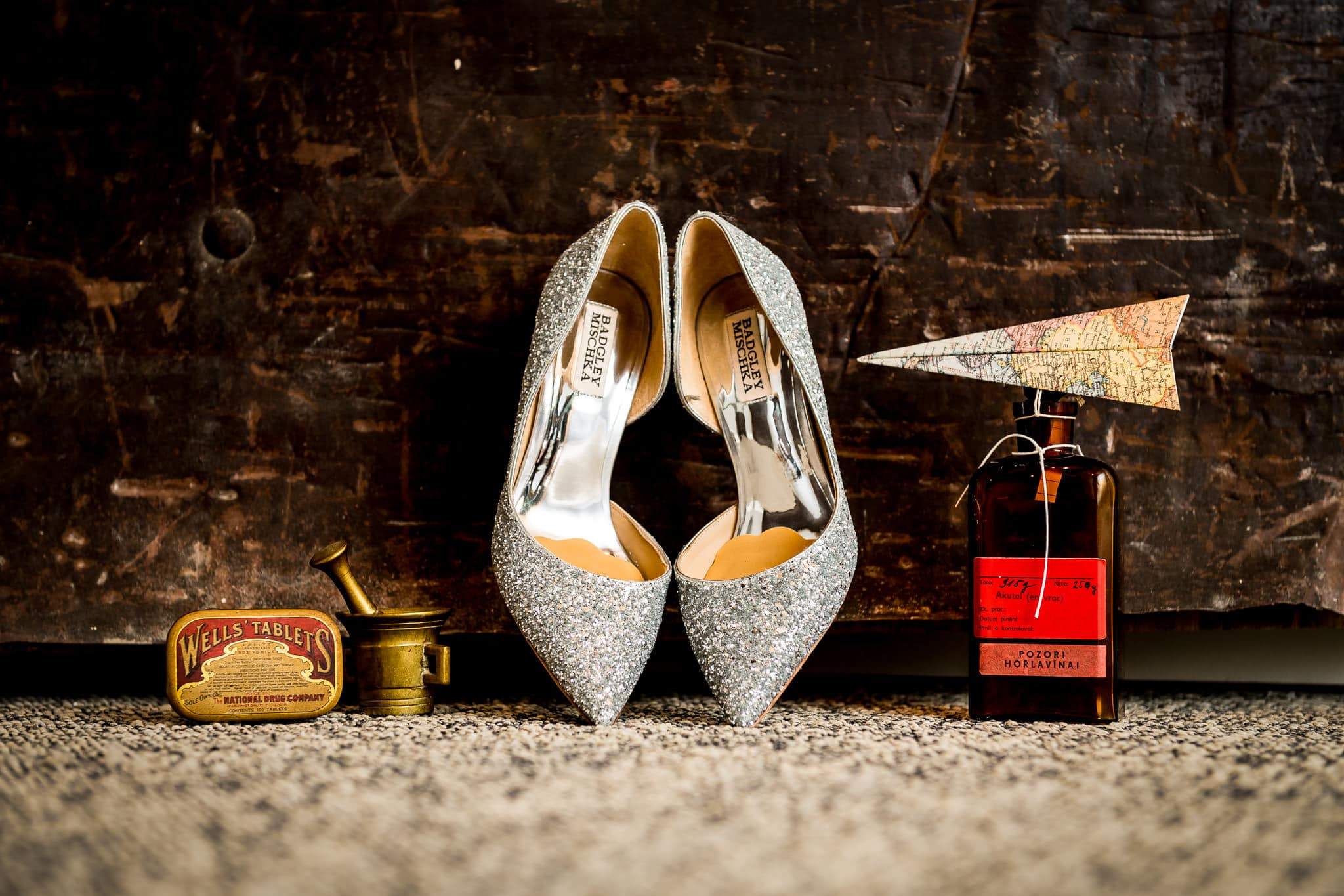 Wedding Shoes and details at the Hewing Hotel