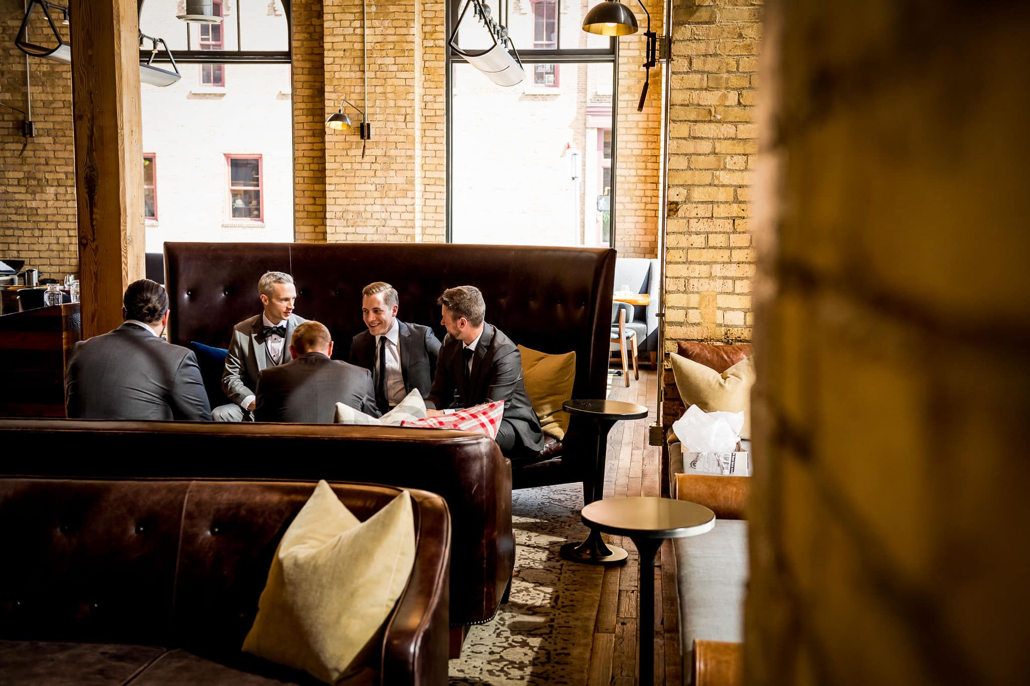 Groomsmen at the Hewing Hotel