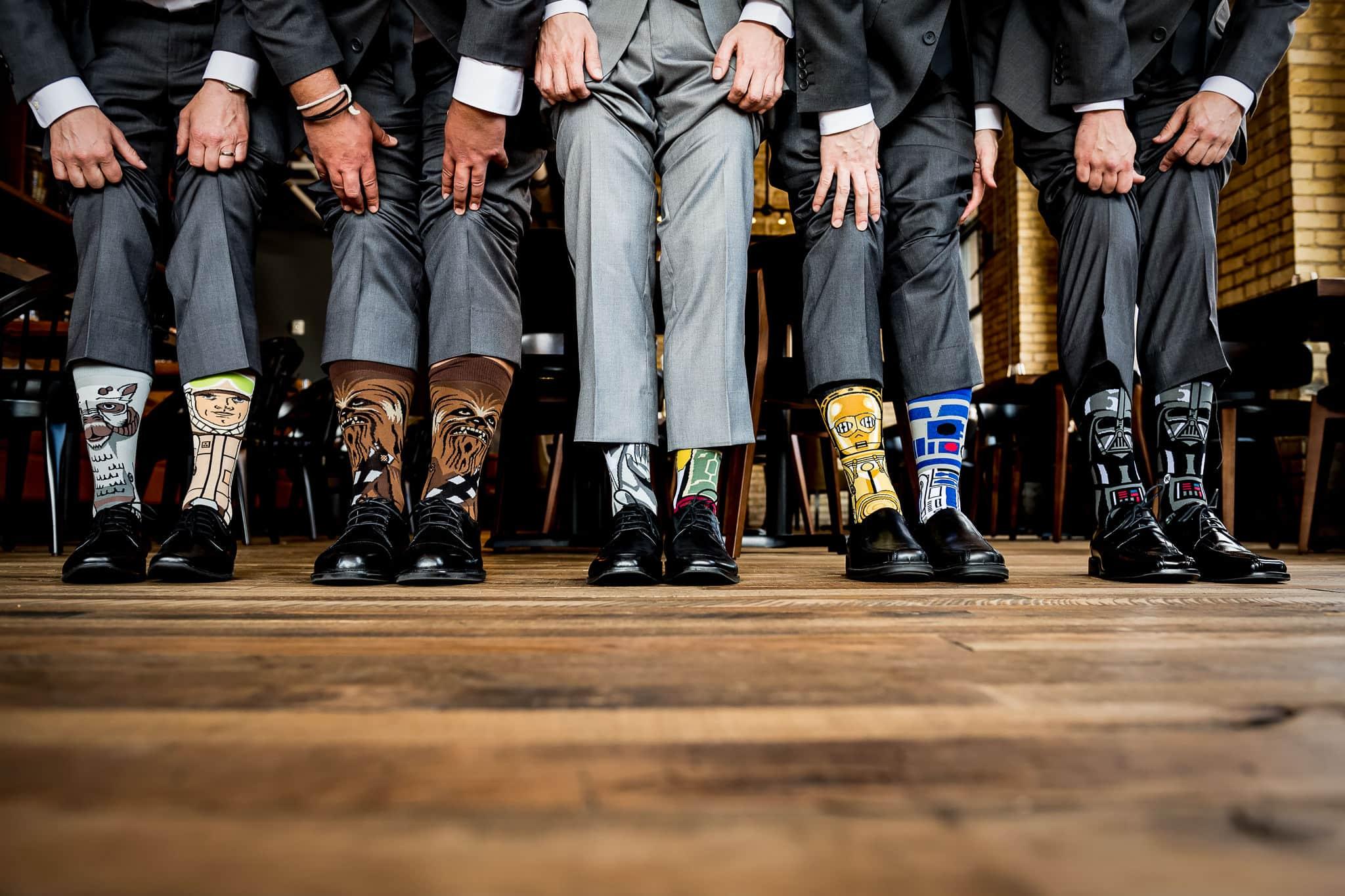 Groomsen Star Wars Socks at Hewing Hotel