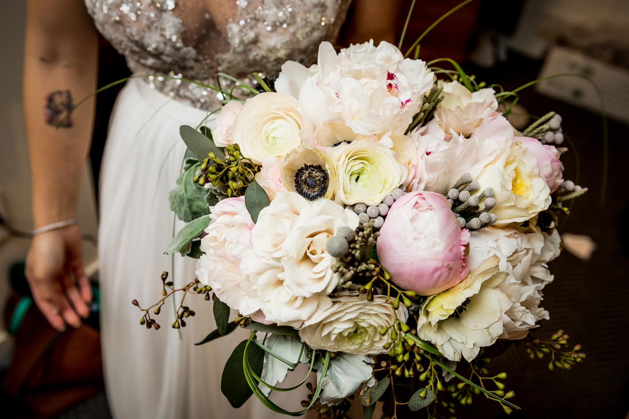 Brides bouquet of flowers by Artemisia Studios