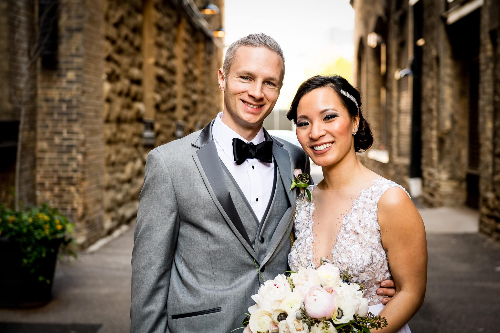 Bride and Groom Portrait at Hewing Hotel in Minneapolis