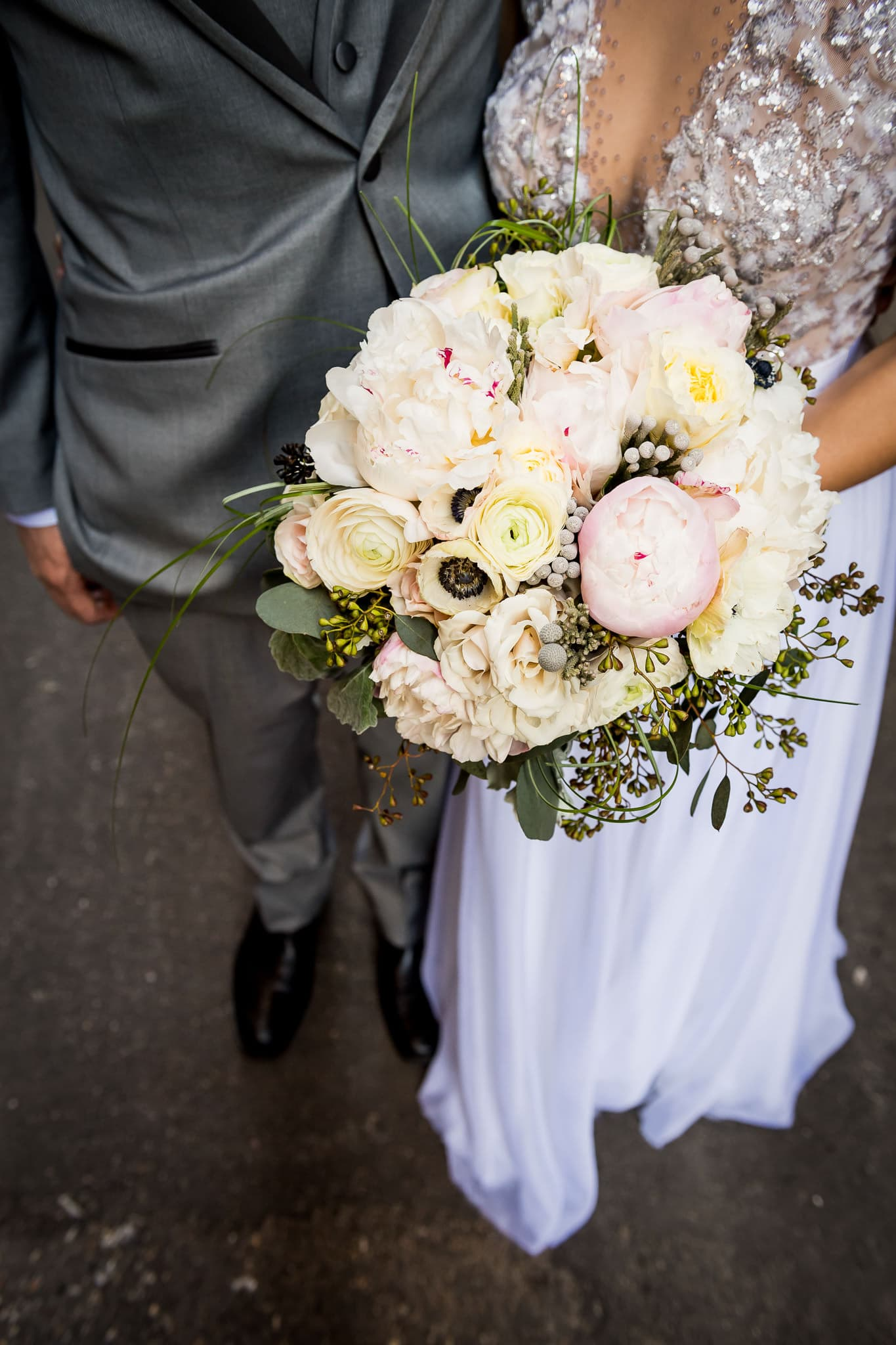 Bridal bouquet by Artemisia Studios at Hewing Hotel
