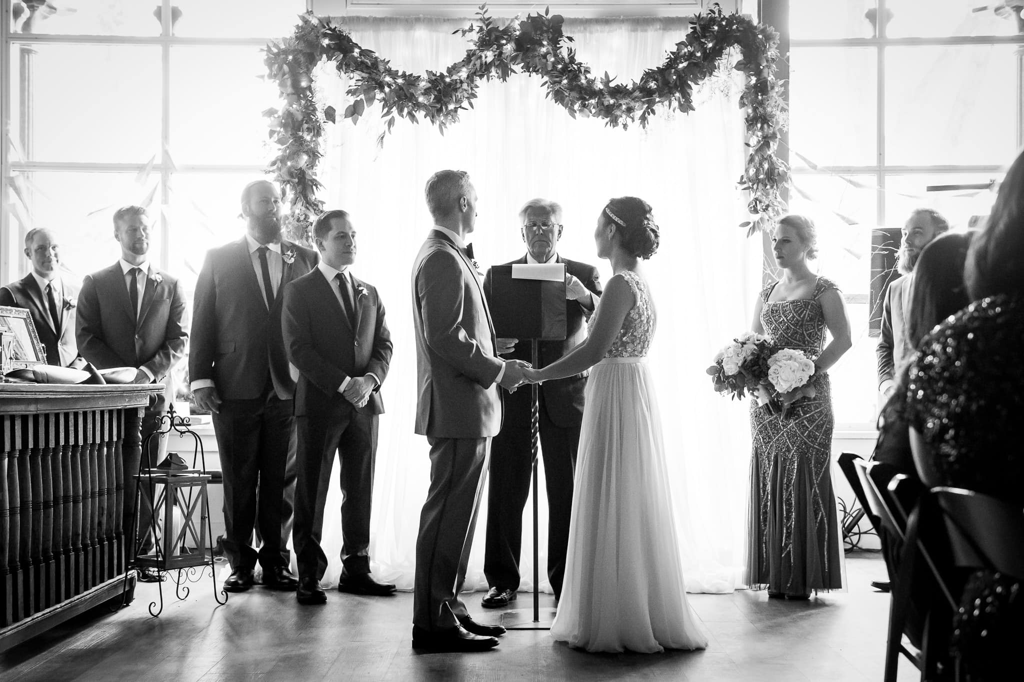 Wedding Ceremony in the River Room at Aster Cafe 1
