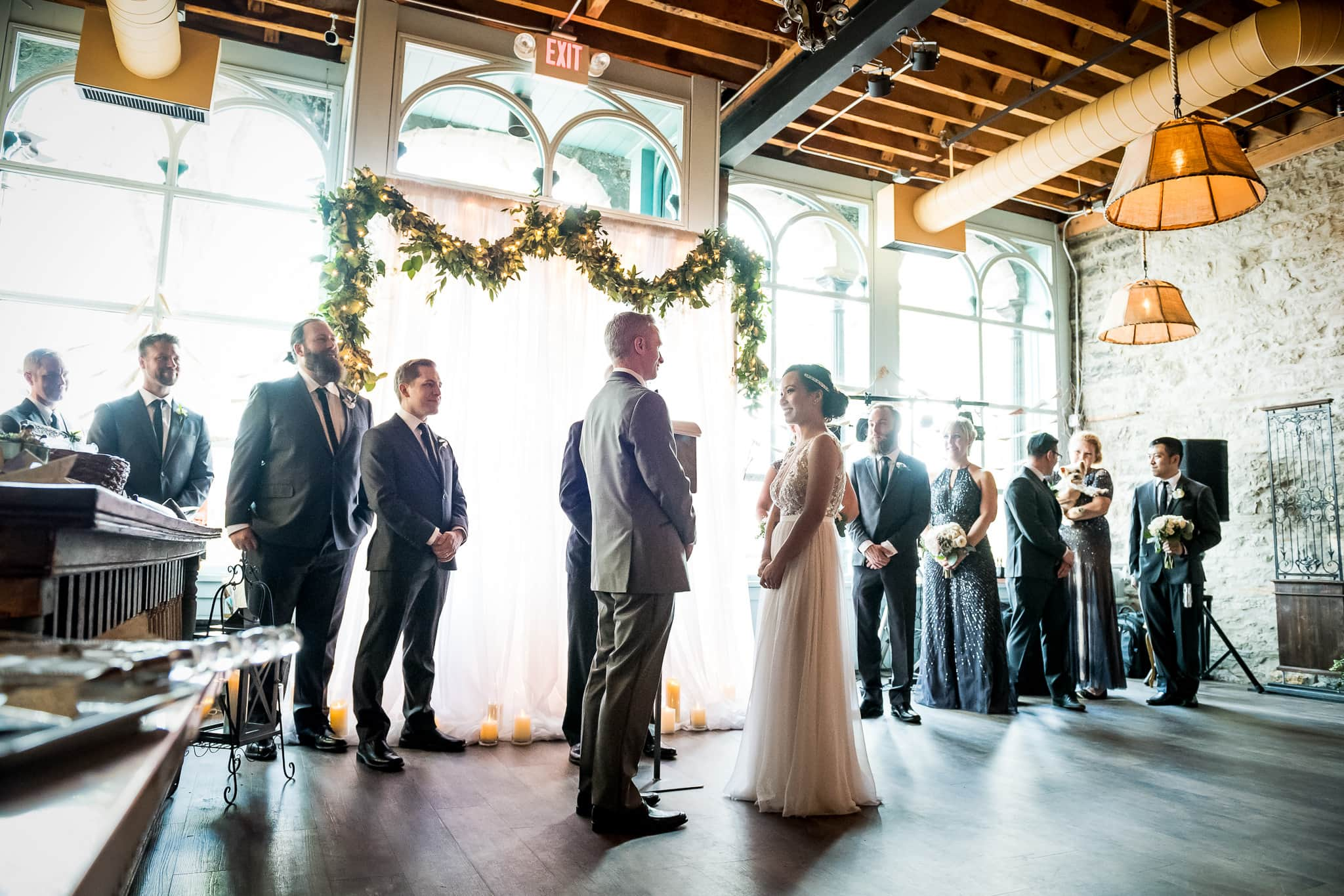 Wedding Ceremony in the River Room at Aster Cafe 2