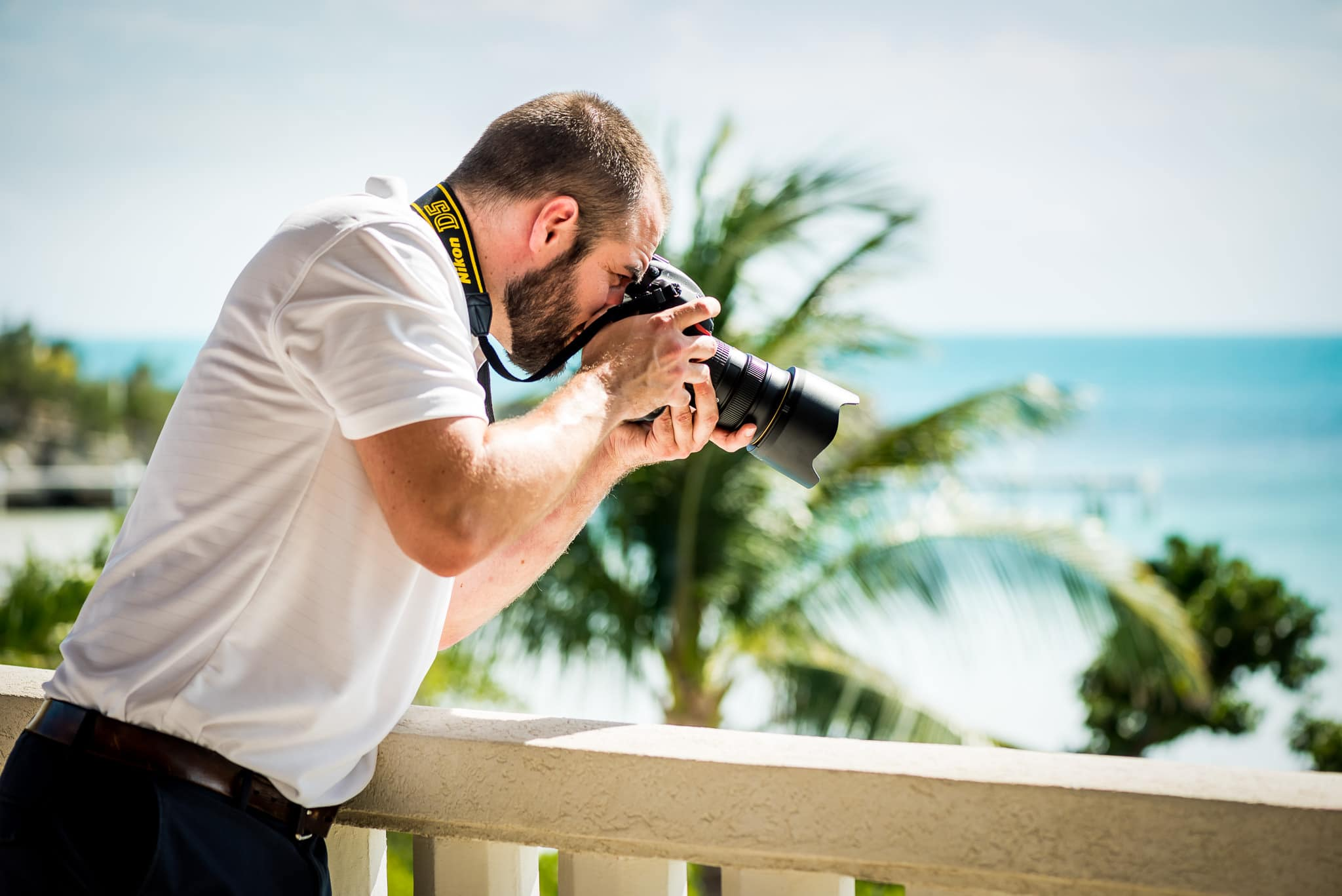 Minneapolis Commercial Photographer Jackson Tyler Eddy shooting from balcony on location in Turks and Caicos