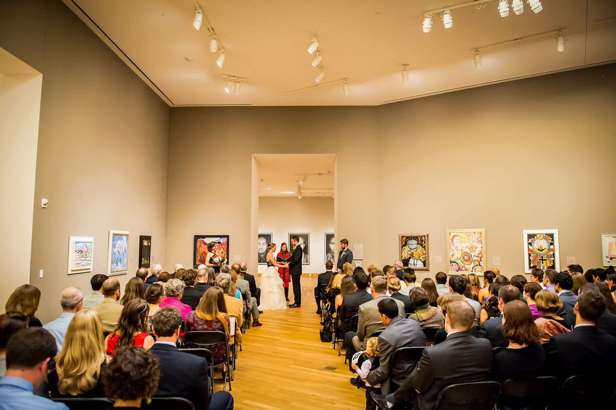 Real wedding ceremony at the Weisman Art Museum