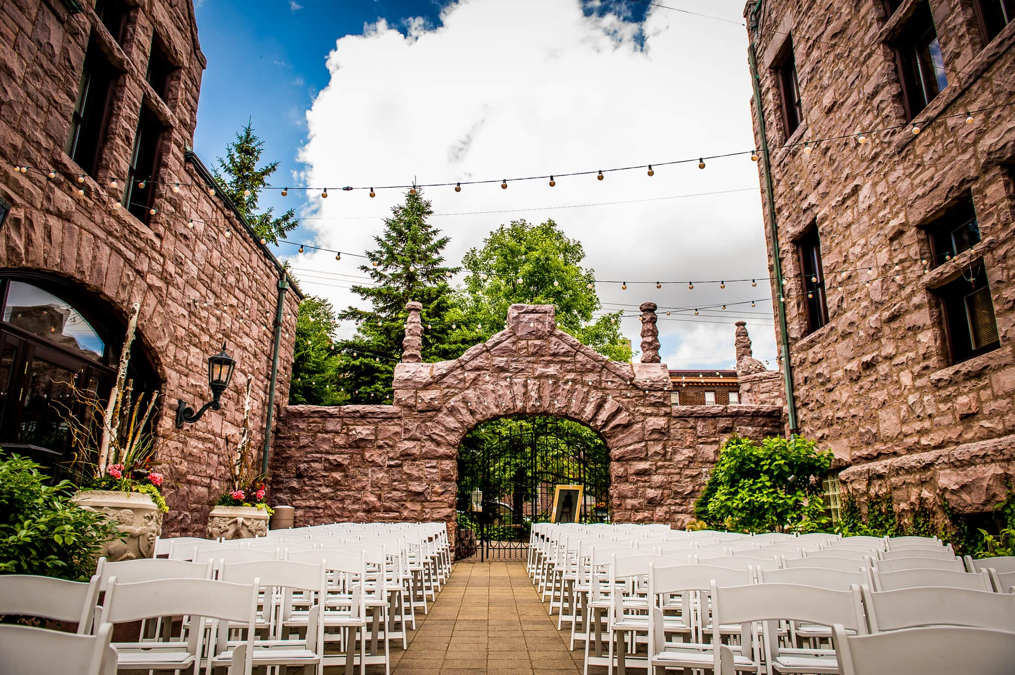 Wedding ceremony space at the Van Dusen Mansion in Minneapolis
