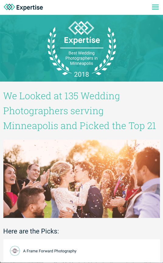 Best Minneapolis Wedding Photographer Award Graphic