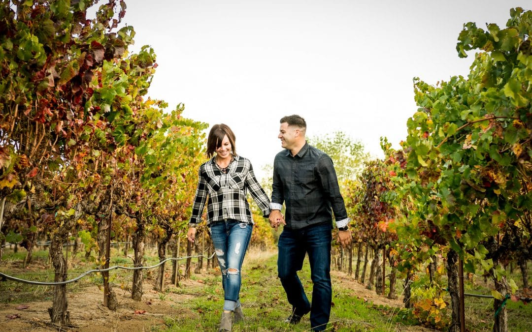 Napa Valley Engagement Photos at Artesa Winery