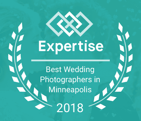 Best Minneapolis Wedding Photographer Award Graphic - Expertise.com