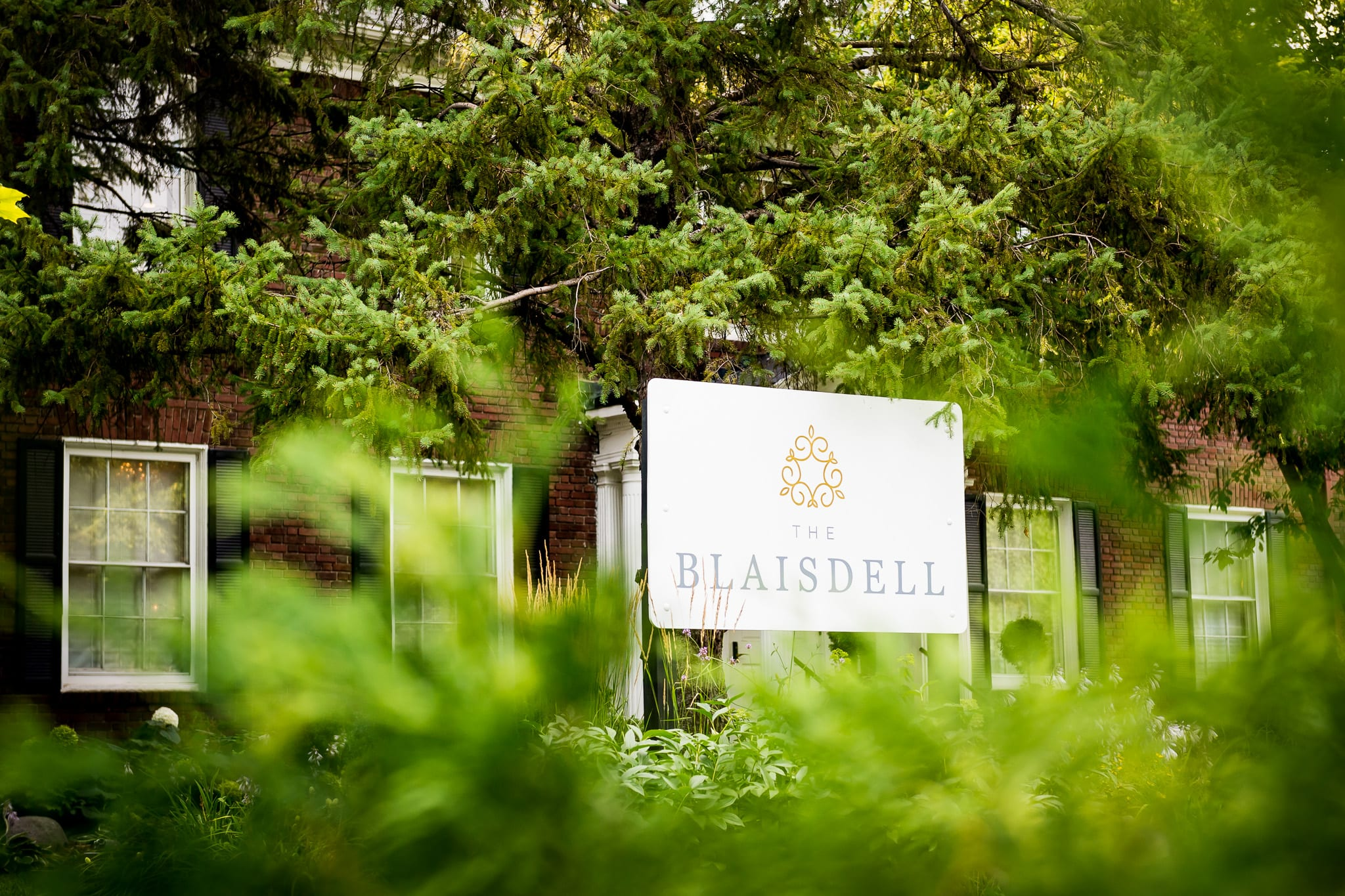 The Blaisdell sign in front of the main wedding venue building in Minneapolis