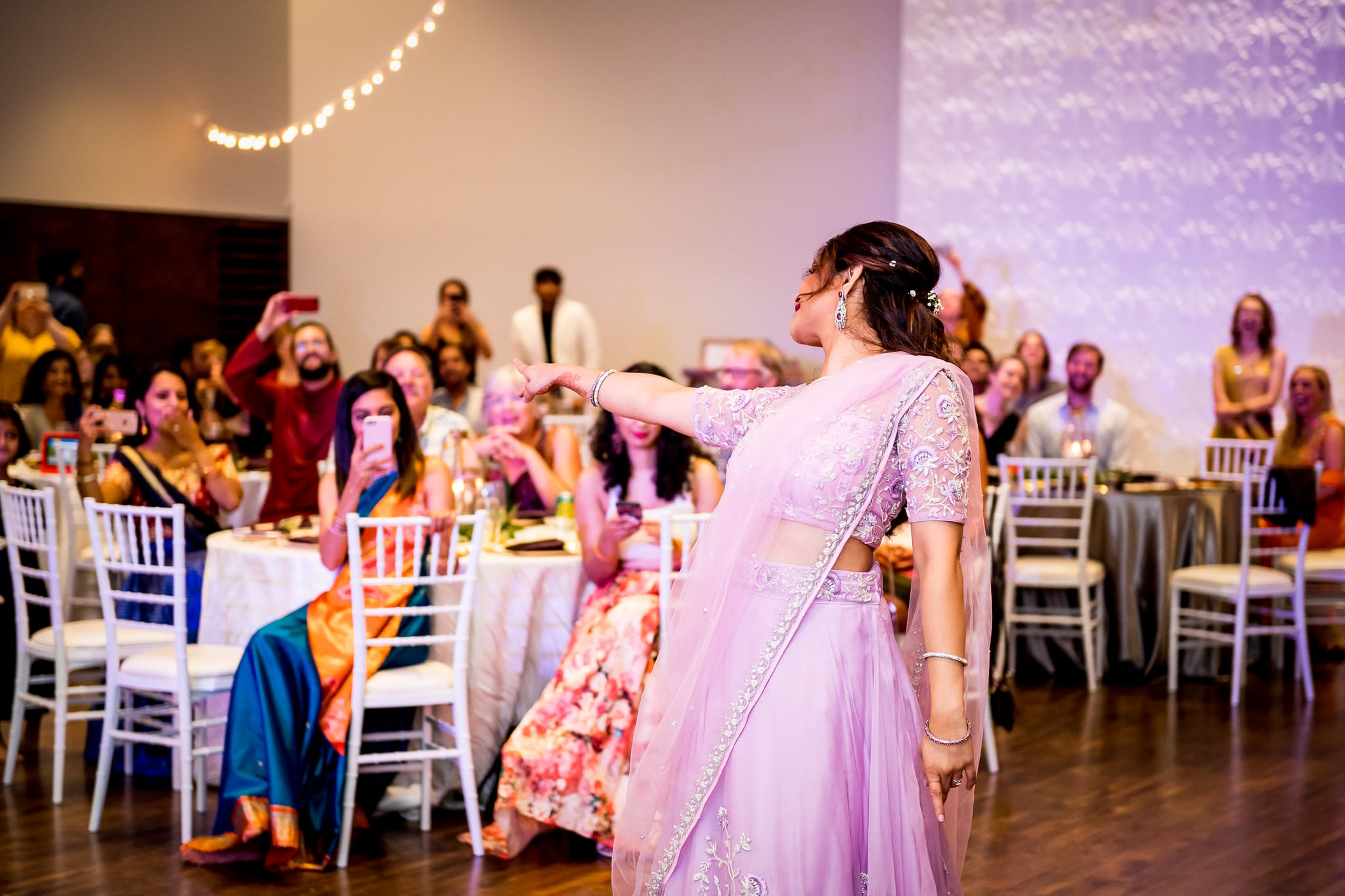 Bride performs a choreographed solo dance