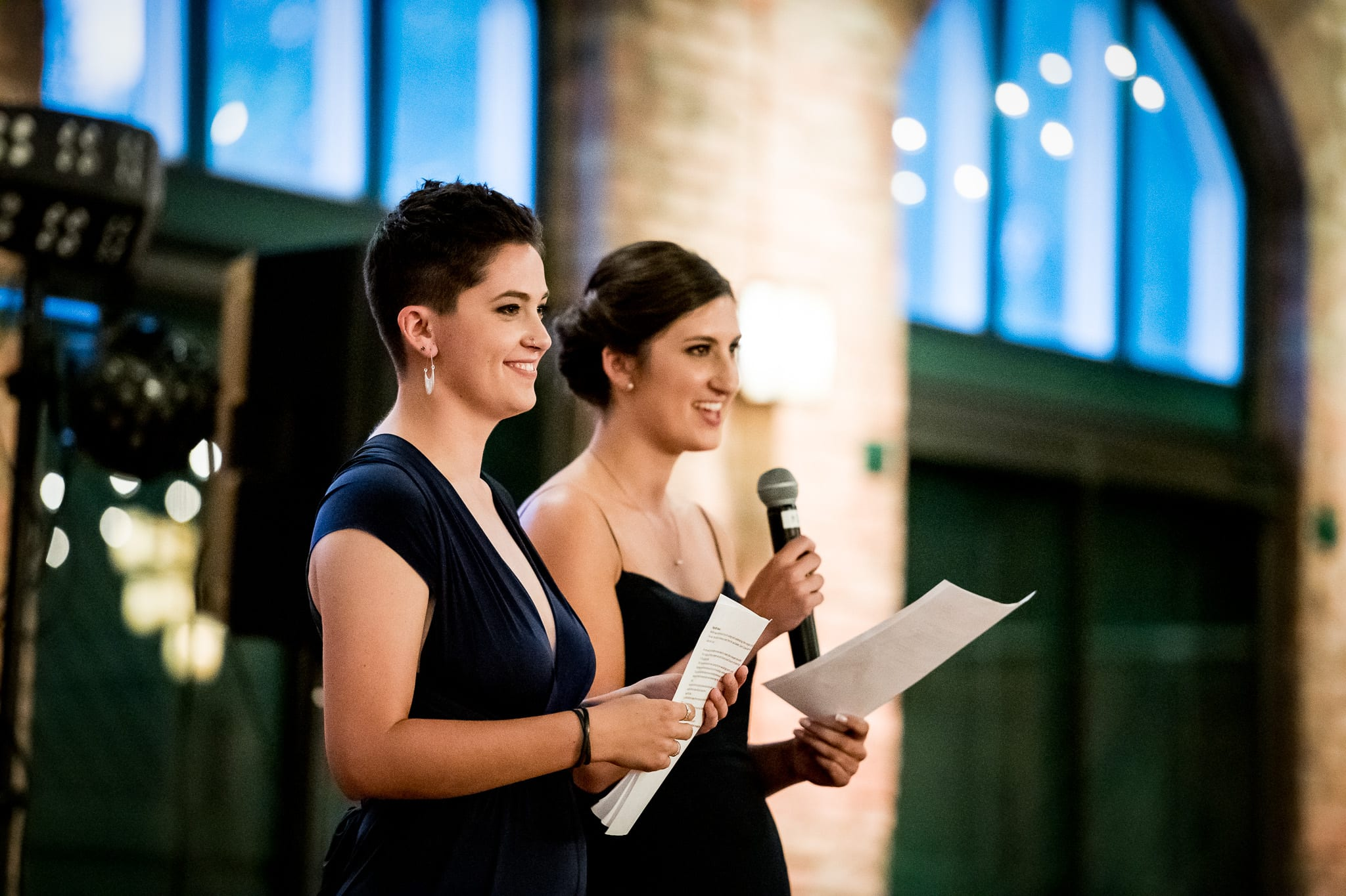 Sisters give their speech