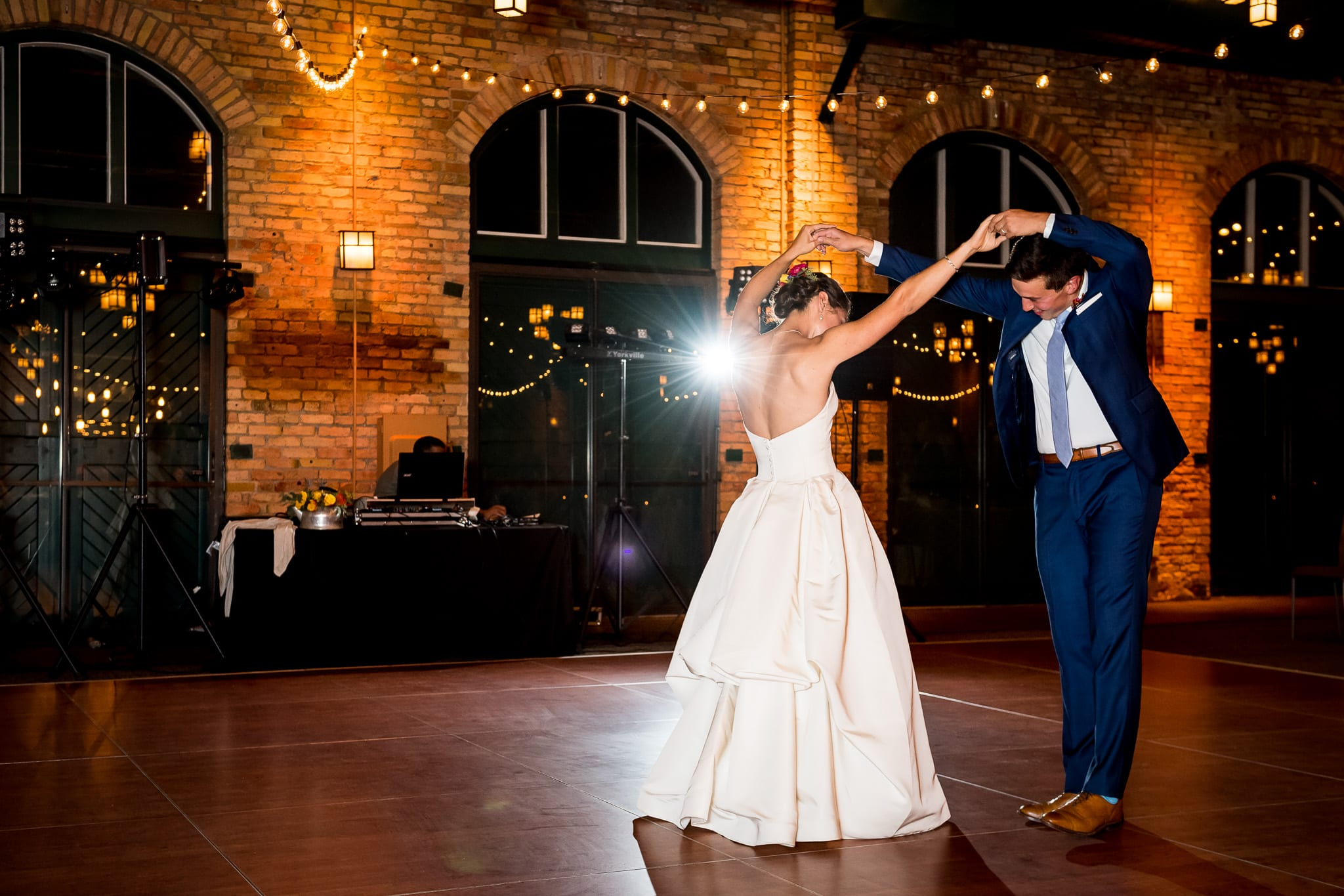 Fancy dance moves from the bride and groom