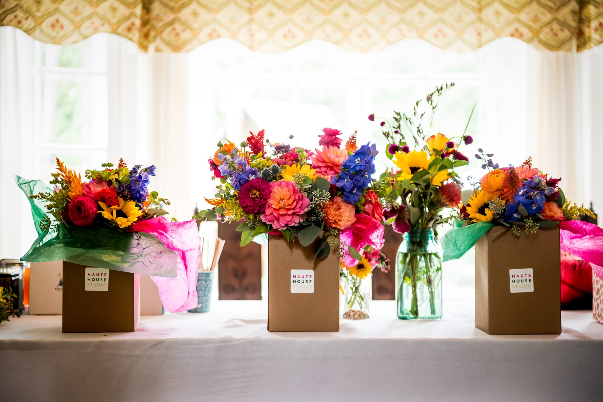 Haute House Studio flowers for a Nicollet Island Pavilion wedding